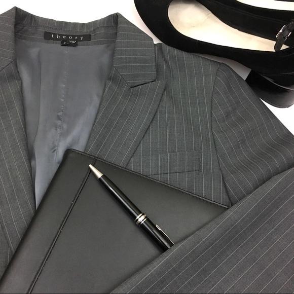 773de638a99 Theory Jackets & Coats   Gabe B Gray Pinstripe Blazer   Poshmark